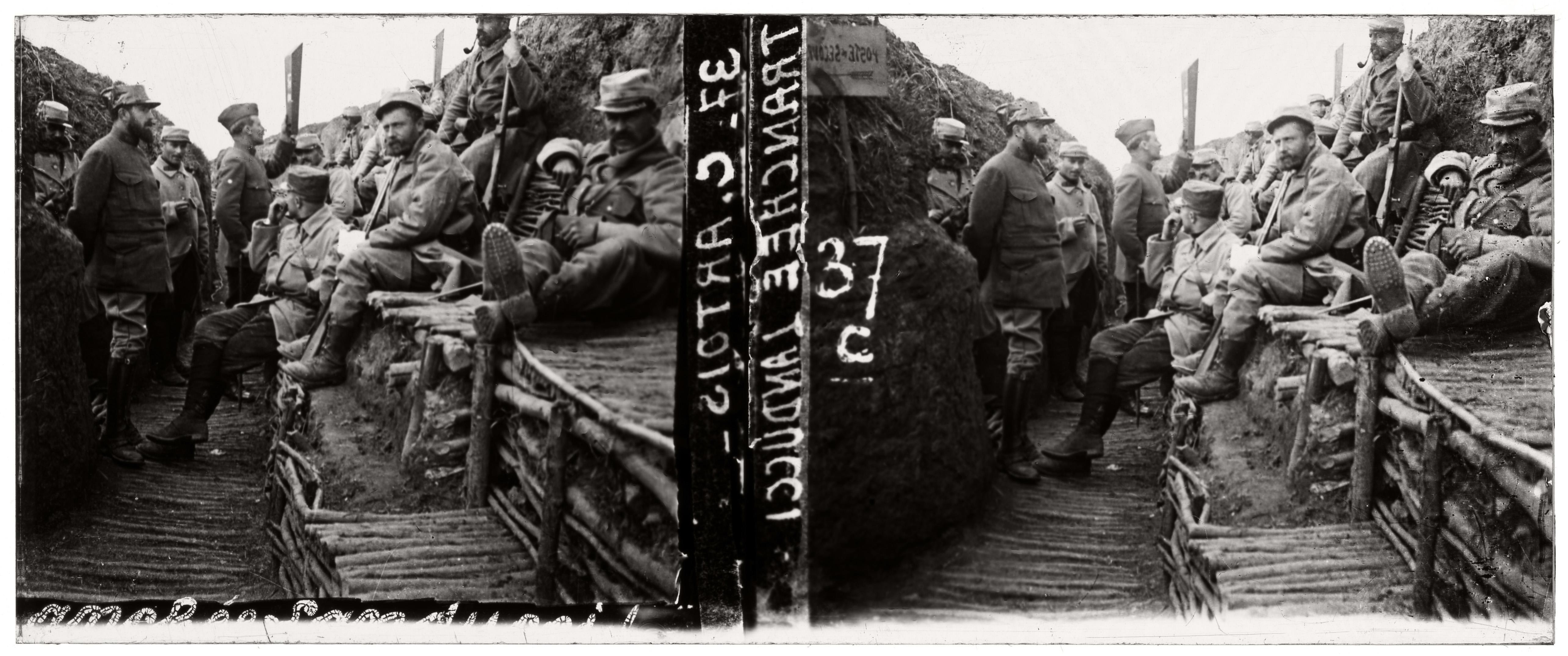 Guerre 14-18, France : 50 vues stéréoscopiques sur plaques de verre ...
