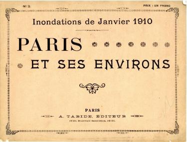 Inondations Paris janvier 1910.
