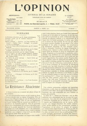 L'Opinion 12 mars 1910 - H. Lichtenberger