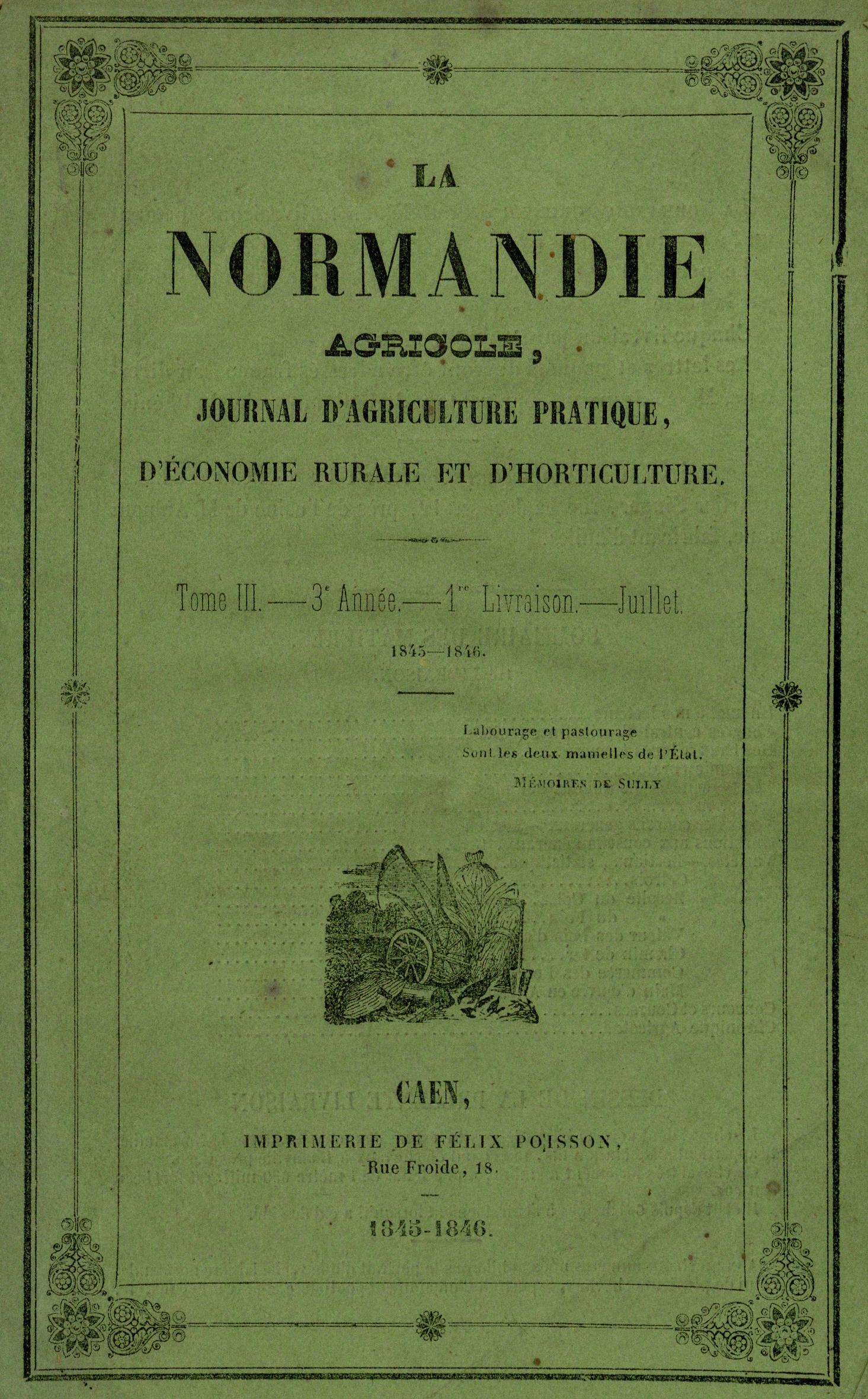 Table des sommaires et index des matires de la normandie agricole journal d - Journal de normandie ...
