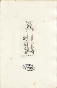 Ex-libris de M. Édouard MANET (4.115 ko)