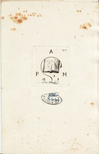 Ex-libris de l'auteur : Auguste POULET-MALASSIS (4.216 ko)
